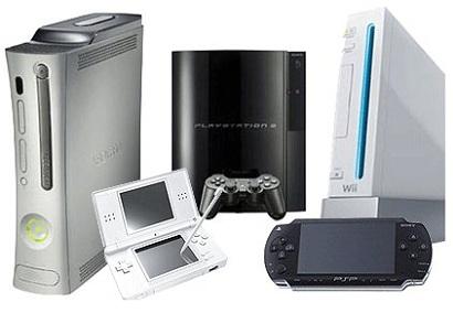 consolas de videojuegos concepto