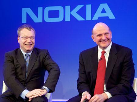 Stephen Elop y Steve Ballmer. Nokia y Microsoft son aliadas pero ¿confía demasiado en su línea Lumia la finlandesa? Según Yankee Group, en exceso