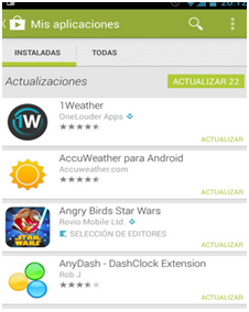 Actualizar Whatsapp para Android