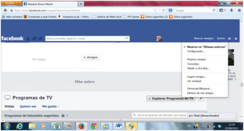 Eliminar o bloquear un contacto de Facebook