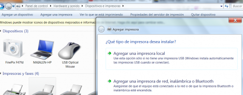 Instalar impresora en Windows 7