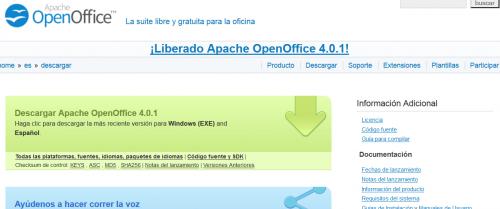 Cómo instalar OpenOffice