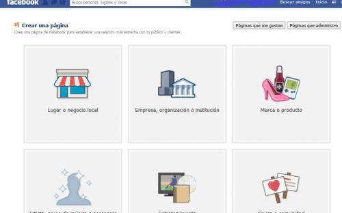 Crear una página de empresa en Facebook