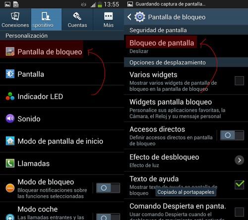 Crea un bloqueo de pantalla en Samsung Galaxy