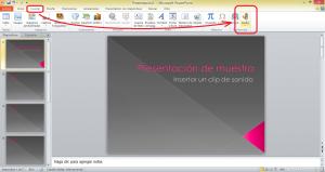 Insertar un clip de audio en tus presentaciones de PowerPoint 2010