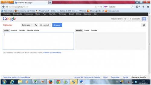 Traductores de Google, Bing y Yahoo. Comparación