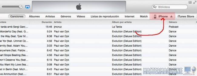 Sincronizar iTunes por Wi-Fi con iPhone 5c / iPhone 5s