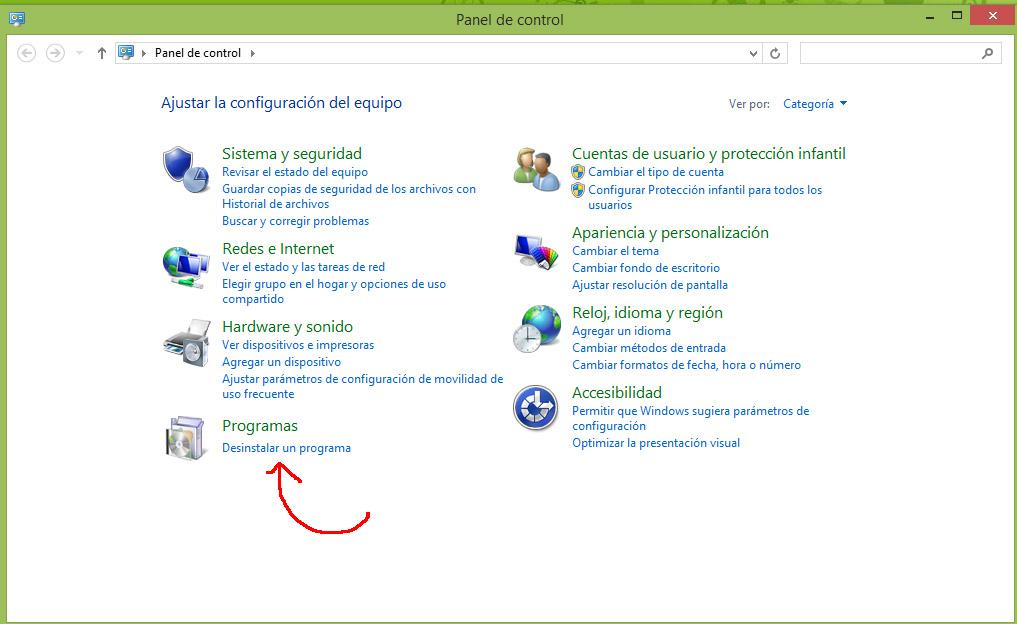 C mo instalar y desinstalar programas en windows 8 1 for Como instalar un estor plegable