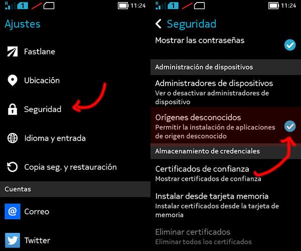 Cómo instalar aplicaciones apk con el Nokia X