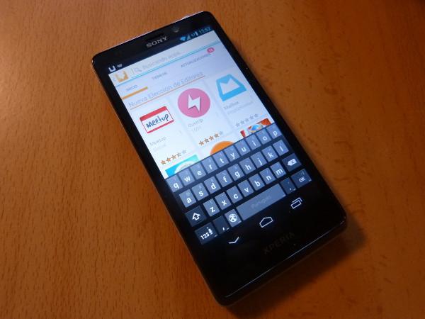 Aptoide funcionando sobre un smartphone
