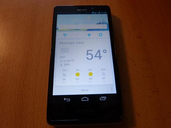 Google Now funcionando en el Sony Xperia T, un terminal para el que teóricamente no está diseñado