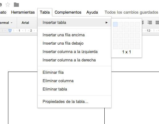 Crear columnas en un texto de Google Docs