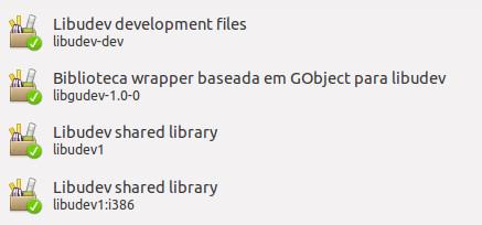 Busqué por libudev en la tienda de software de Ubuntu e instalé todas estas opciones. Mal no me fue...