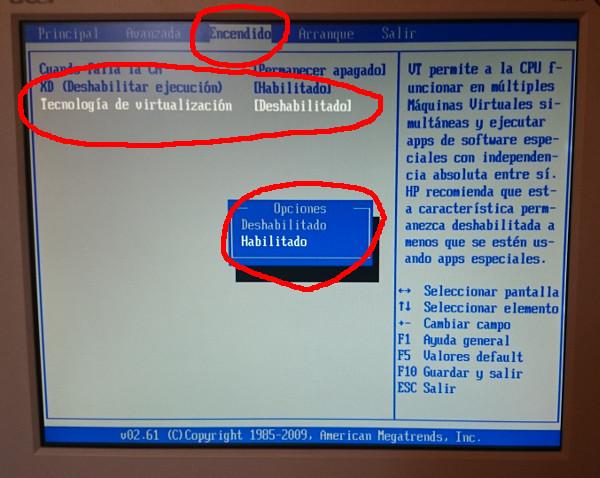 La opción de la BIOS en la que podemos activar la tecnología de virtualización puede variar de una computadora a otra