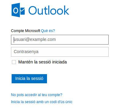 Necesitaremos tener cuenta en Outlook o una de las viejas cuentas de Gmail