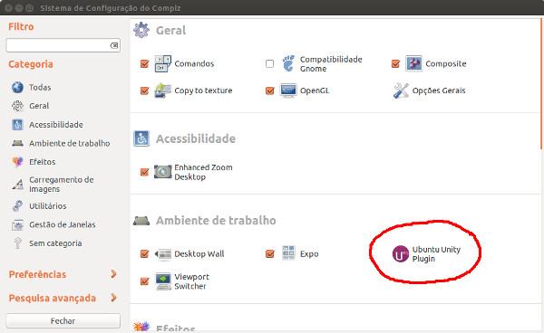 Icono dedicado a las opciones de Ubuntu Unity dentro de CompizConfig
