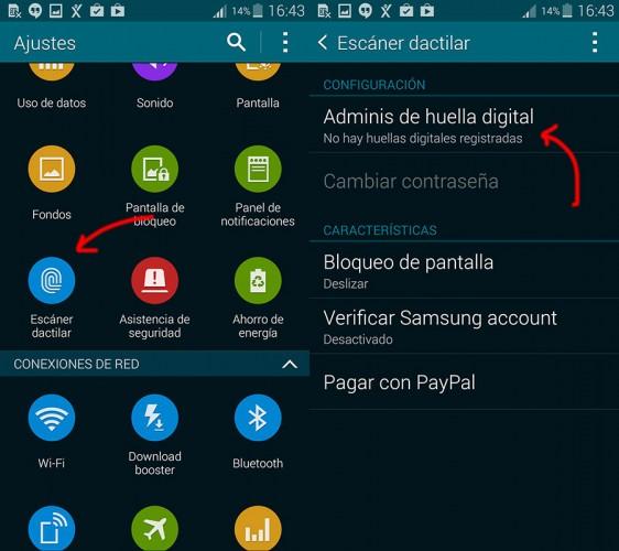 Cómo configurar huella dactilar Samsung Galaxy S5