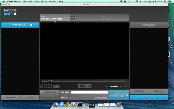 Entorno de usuario de GoPro Studio