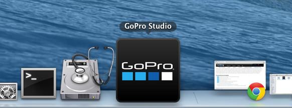 Icono de GoPro Studio en un Mac