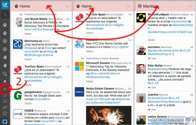 Configurar y añadir cuentas de Twitter con TweetDeck