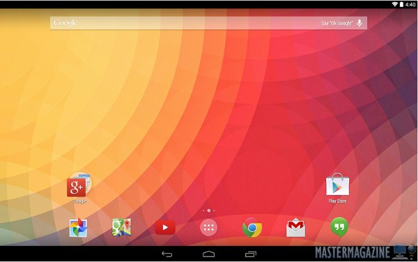 Google Now Launcher en un tablet