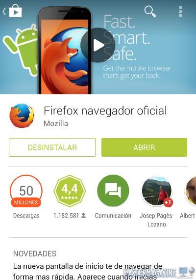 Cambiar el idioma de Firefox para Android