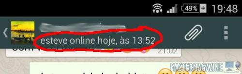 Ocultar última conexión en WhatsApp