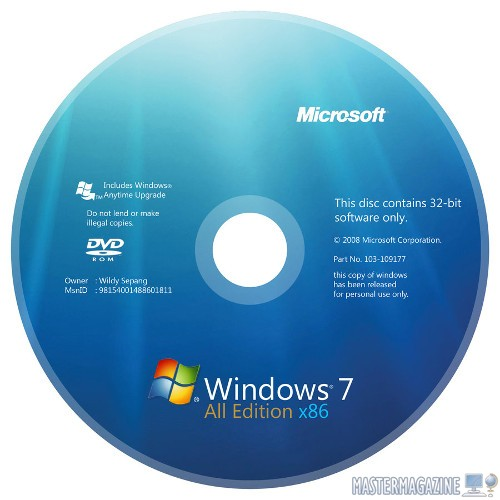 DVD de Windows 7