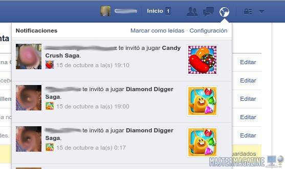 Como bloquear notificaciones de Candy Crush en Facebook