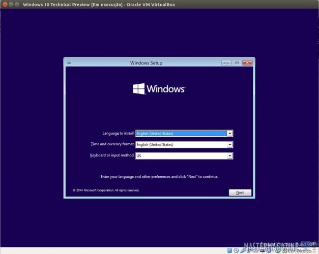 Instalación de Windows 10 en VirtualBox. Clic para agrandar