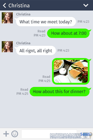 Una conversación en Line