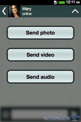 Podemos mandar ficheros como fotos utilizando la misma red de WhatsApp, por lo que no perdemos funcionalidad
