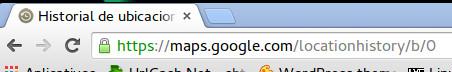 Datos de geolocalización que Google tiene de nosotros