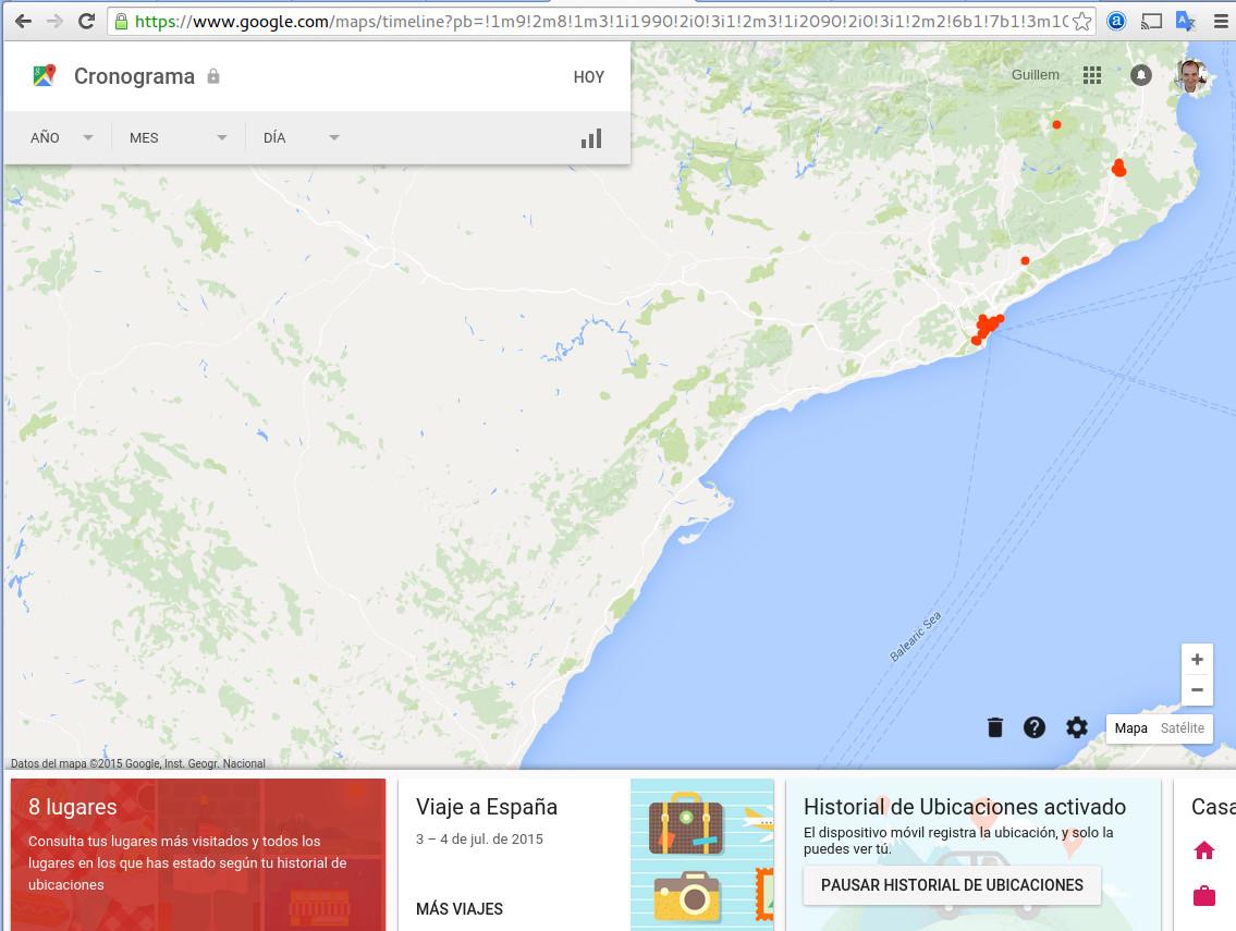 Donde estabas ese da google maps te lo dice clic para ampliar gumiabroncs Choice Image