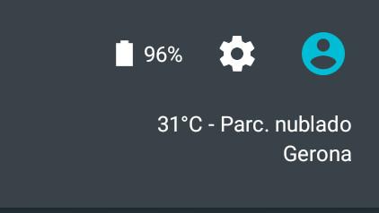 Como ver el porcentaje de batería en Android
