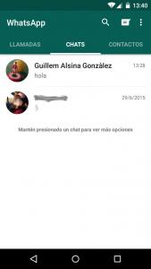 Desbloquear contactos que teníamos bloqueados en WhatsApp