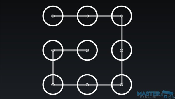 Un ejemplo de patrón de bloqueo que puede ser fácil de acertar