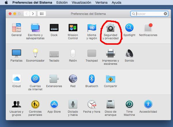 Ejecución restringida de software en Mac OS X