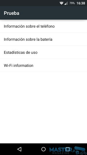 Diagnosticar el estado del smartphone