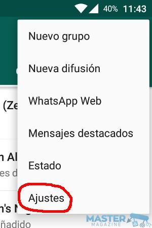 Personalizar los avisos de mensaje en WhatsApp