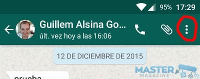 Enviar una conversación de WhatsApp por correo
