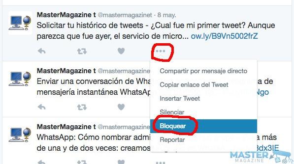 ¿Qué significa bloquear a alguien en Twitter?