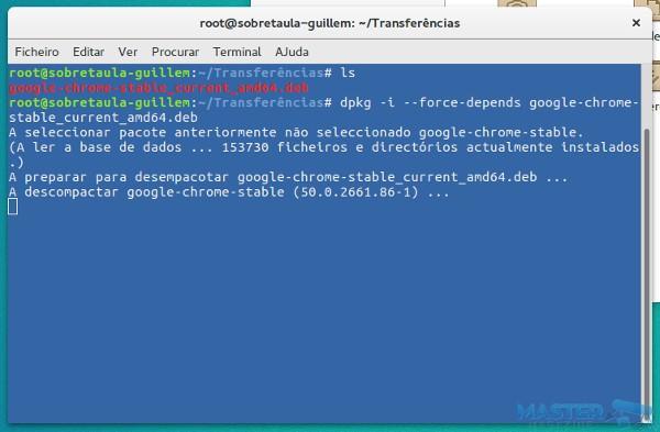 Forzar la instalación de Google Chrome en Ubuntu