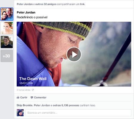 El nuevo look&feel del News Feed de Facebook. Imagen cortesía de la misma empresa
