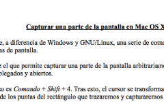Capturar parte de la pantalla en Mac OS X