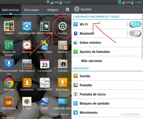 Configurar Wi-Fi en un celular Android