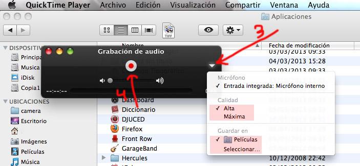 Cómo Grabar Sonido En Mac Os X Con Quicktime