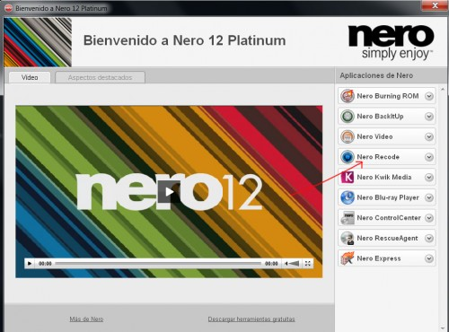 Convertir películas DivX / mov a MP4 con Nero 12
