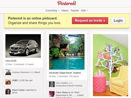 Pinterest está tercero en la lista de redes sociales