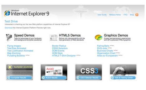 Versión Beta del Internet Explorer 9 para septiembre